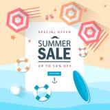 Lato sprzedaży marketingowy szablon z elemets sklep Online EPS10 wektorowa ilustracja ilustracja wektor