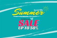 Lato sprzedaży projekta szablonu sztandar dla promocji ilustracji