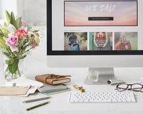 Lato sprzedaży promoci rabata marketingu Save pojęcie obraz stock