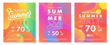 Lato sprzedaży sztandary obraz stock