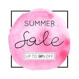 Lato sprzedaży akwarela Zdjęcia Stock