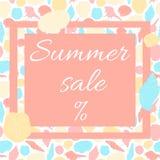 Lato sprzedaży plakat Obrazy Stock