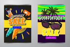 Lato sprzedaży szablonu sztandar Zdjęcie Royalty Free