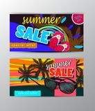 Lato sprzedaży szablonu sztandar Obraz Royalty Free