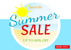 Lato sprzedaży sztandaru szablon Obrazy Royalty Free
