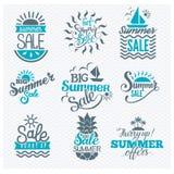 Lato sprzedaży odznaki wektor Zdjęcie Stock