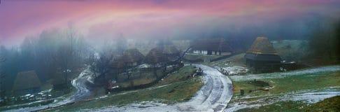Lato storico ucraino del paese Fotografie Stock