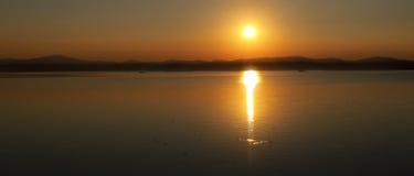 Lato sylwetki panoramiczny krajobraz Zdjęcie Stock