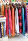 Lato szaliki przy sklepem obraz royalty free