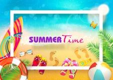 Lato sztandaru tła wektor Zdjęcie Royalty Free