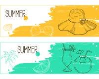 Lato sztandary ilustracja wektor