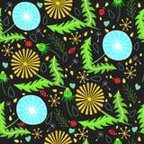 Lato, tapeta, dekoracja, ulistnienie biały, kwiecisty, wiosna, płatek, kwiat, kolor żółty, wektor, liść, świętowanie, grafika Zdjęcia Royalty Free