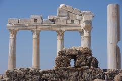 Lato - tempiale dell'Apollo Fotografia Stock