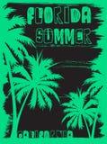 Lato trójnika graficzny projekt Florida California royalty ilustracja