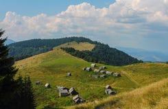 Lato, Ukraine, góra, zmierzch, carpathian, pasmo górskie, krajobrazy, turystyka, fotografia royalty free