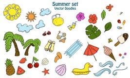 Lato ustawiający z różnymi rzeczami royalty ilustracja