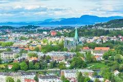 Lato w Trondheim, Norwegia obraz stock