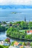 Lato w Trondheim, Norwegia zdjęcie royalty free