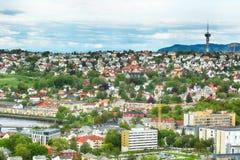 Lato w Trondheim, Norwegia fotografia stock