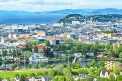 Lato w Trondheim, Norwegia zdjęcie stock