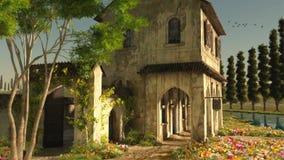 Lato w Tuscany, 3d CG zdjęcie royalty free
