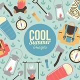 Lato wakacje i podróżny tło Zdjęcia Stock