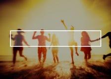 Lato więzi przyjaźni wakacje więzi uczuciowa pojęcie Zdjęcia Royalty Free