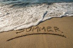 Lato wiadomość na piasku Zdjęcia Stock