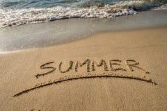 Lato wiadomość na piasku Fotografia Royalty Free