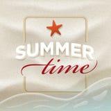 Lato wiadomość na plażowym piasku royalty ilustracja