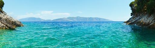 Lato widok Ithaka wyspa (Grecja) Zdjęcie Royalty Free