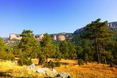 Lato widok sierra de Cuenca Obraz Royalty Free