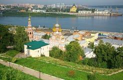 Lato widok Stroganov kościelny Nizhny Novgorod Rosja Zdjęcie Royalty Free