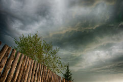 Lato wieczór niebo po deszczu Fotografia Stock