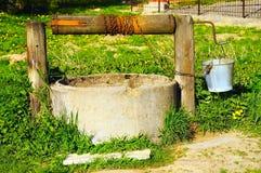 lato wioski well Obrazy Stock