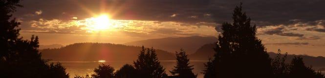 Lato wschód słońca na Puget Sound Obraz Royalty Free