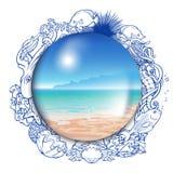 Lato wspominek szklana kula ziemska obramiająca Obraz Stock