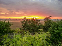 Lato wymarzony wschód słońca, Rumunia Fotografia Stock