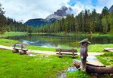 lato wysokogórski jeziorny widok Obrazy Stock