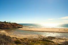 Lato zabawa na Southport plaży plaży, Portowy Noarlunga, SA Zdjęcia Royalty Free