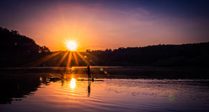 Lato zabawa na wodzie Fotografia Stock