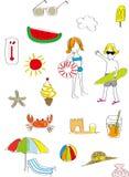 Lato zabawy ikona Zdjęcie Stock