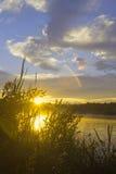 Lato zmierzch Zdjęcie Royalty Free