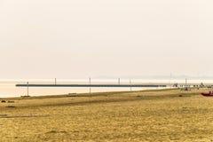 Lato zmierzch nad laguny lini? brzegow? w Bibiobe, Venice zdjęcie stock