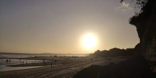 Lato zmierzch plażą obrazy stock