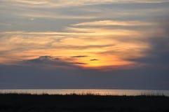 Lato zmierzch w morzu Obraz Stock
