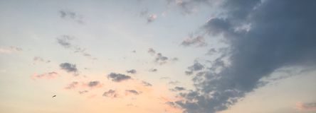 Lato zmierzchu niebo Fotografia Royalty Free