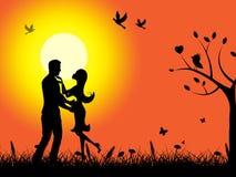 Lato zmierzchu sposobów znaleziska adoracja I miłość ilustracja wektor