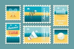 Lato znaczka ustalony mieszkanie Fotografia Stock