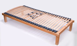 Latoflex, birch, wood slats. Mattress wood bed frame modern Royalty Free Stock Image